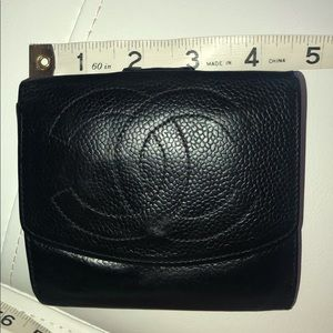 Chanel genuine leather mini wallet